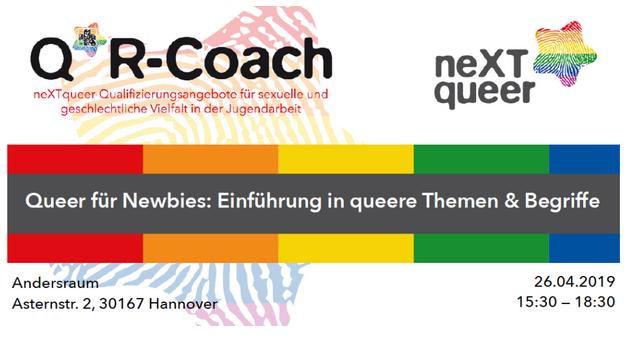 Queer für Newbies: Einführung in queere Themen & Begriffe am 26.04.2019